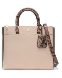 Tory Burch - Robinson Pale Apricot Multi Leather Double Zip Tote Bag - Lyst