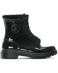 Armani Jeans - Black Patent Rain Boots - Lyst