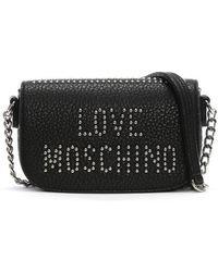 Lyst - Love Moschino Black Chain Handle Scarf Cross-body Bag in Black 2eb25aaa84