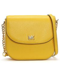Michael Kors - Half Dome Sunflower Leather Cross-body Bag - Lyst