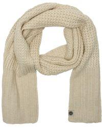 UGG - Cardi Beige Textured Wool Scarf - Lyst