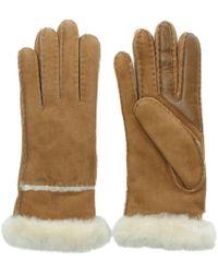 UGG - Women'S Exposed Slim Tech Chestnut Gloves - Lyst