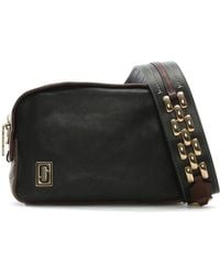 Marc Jacobs - The Squeeze Black Multi Leather Zip Around Shoulder Bag Co - Lyst