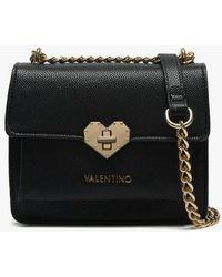 9b31541933f Valentino By Mario Valentino Metropolis Black Shoulder Bag in Black - Lyst