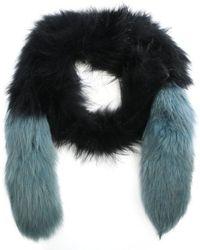 Oakwood - Long Island Blue Fur Stole - Lyst