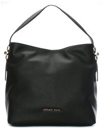 Versace Jeans - Becky Black Pebbled Hobo Bag - Lyst
