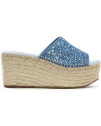 Vidorreta - Cooktown Blue Glitter Espadrille Mules - Lyst