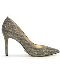 Michael Kors - Claire Black & Gold Glitter Mesh Court Shoes - Lyst