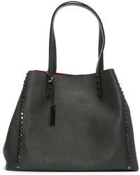 Daniel - Mooch Grey Tumbled Leather Studded Tote Bag - Lyst