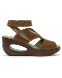 Fly London - Hibo Ankle Strap Wedges - Lyst