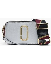 Marc Jacobs - Snapshot Silver Multi Leather Camera Bag - Lyst