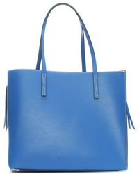 Daniel - Shore Blue Leather Unlined Tote Bag - Lyst
