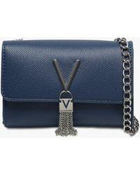 Valentino By Mario Valentino - Divina Blue Pebbled Shoulder Bag - Lyst