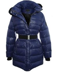 UGG - Navy Belted Nylon Down Jacket - Lyst