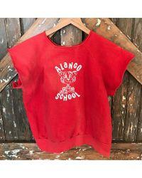 DANNIJO - Vintage Alango Crop Sweatshirt Tee - Lyst