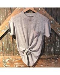 DANNIJO - Vintage Grey With Pocket Tee - Lyst