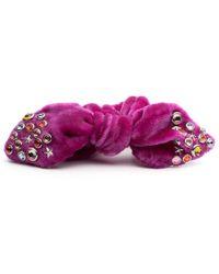 DANNIJO - Pink Moon Studded Scrunchie - Lyst