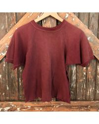 DANNIJO - Vintage Short Sleeve Cranberry Sweatshirt - Lyst