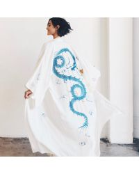 DANNIJO - Vintage Off-white Kimono - Lyst
