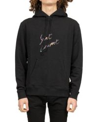 2d84bc9027e Saint Laurent Logo Hoodie in Pink for Men - Save 5% - Lyst