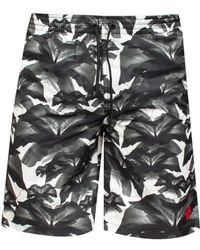 Marcelo Burlon - 'grey Flowers' Swim Shorts - Lyst