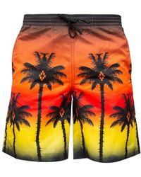 Marcelo Burlon - 'red Palm' Swim Shorts - Lyst