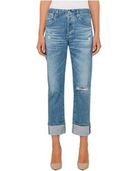 AG Jeans - Sloan Straight 20 Yr Carved Stone - Lyst