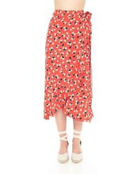 54d34be1cb Faithfull The Brand - Celeste Wrap Skirt Jasmine Floral Print - Lyst