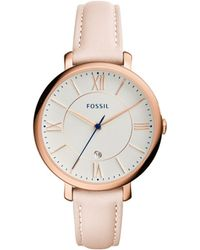 Fossil - Jacqueline White Dial Ladies Casual Watch Es3988 - Lyst