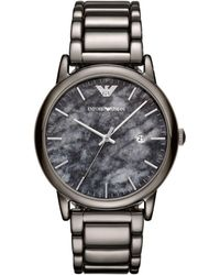 Emporio Armani - Men's Gunmetal Watch - Lyst