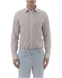 Simon Carter - Flamingo Print Single Cuff Shirt - Lyst
