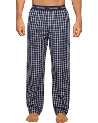 Calvin Klein - Navy Check Pyjama Trousers - Lyst
