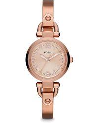 Fossil - Georgina Mini Rose Gold Watch - Lyst