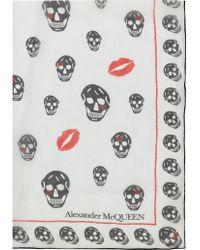 Alexander McQueen - Skull Kisses Scarf - Lyst