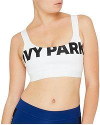 Ivy Park - Logo V Back Mesh Insert Bra - Lyst