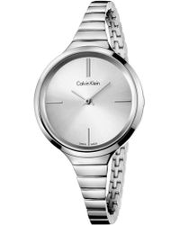 CALVIN KLEIN 205W39NYC - Lively Silver On Sst - Lyst