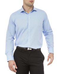 Geoffrey Beene | Stretch Collar Murray Micro Structure Slim Fit Shirt | Lyst