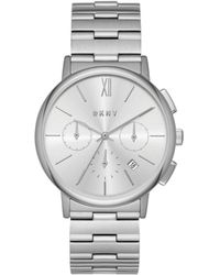 DKNY - Willoughby Silver Stainless Steel Watch - Lyst