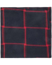Ben Sherman - Large Check Mixed Yarn Tie - Lyst