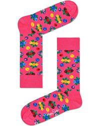 Happy Socks - Berry Multi Sock - Lyst