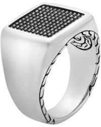 John Hardy - Classic Chain Silver Jawan Signet Ring - Lyst