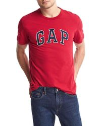 Gap - Logo Applique Crewneck Tee - Lyst