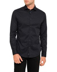 Armani Jeans - Eagle All Over Print Shirt - Lyst