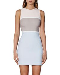 BY JOHNNY. - Bold Lines Mini Shift Dress - Lyst