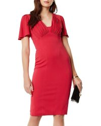 Karen Millen - Gathered Detail Midi Dress - Lyst