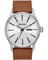 Nixon - Sentry Leather - Lyst