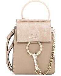 642e8a8ed2f7d Chloé Faye Small Leather Bracelet Bag in Gray - Lyst