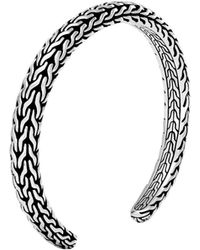 John Hardy - Classic Chain 6mm Cuff In Silver - Lyst