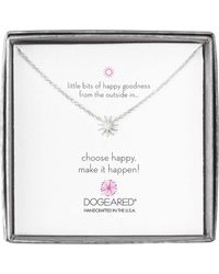 Dogeared - Mini Starburst Little Bits Of Happy Boxed Reminder Necklace - Lyst