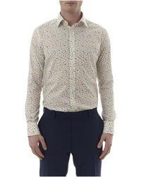 Simon Carter - Water Spot Print Single Cuff Shirt - Lyst
